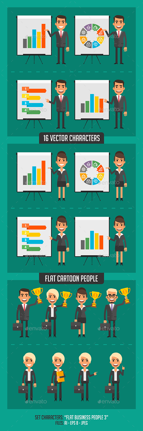 Flat Business People 3 - People Characters