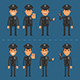 Policeman Offender and Sheriff - GraphicRiver Item for Sale