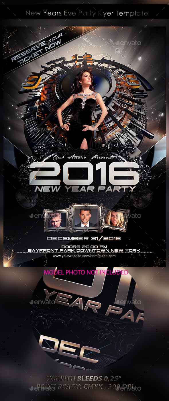 New Years Eve Party Flyer Template - Events Flyers