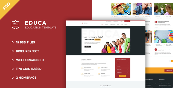 Educa – Education & Courses PSD Template