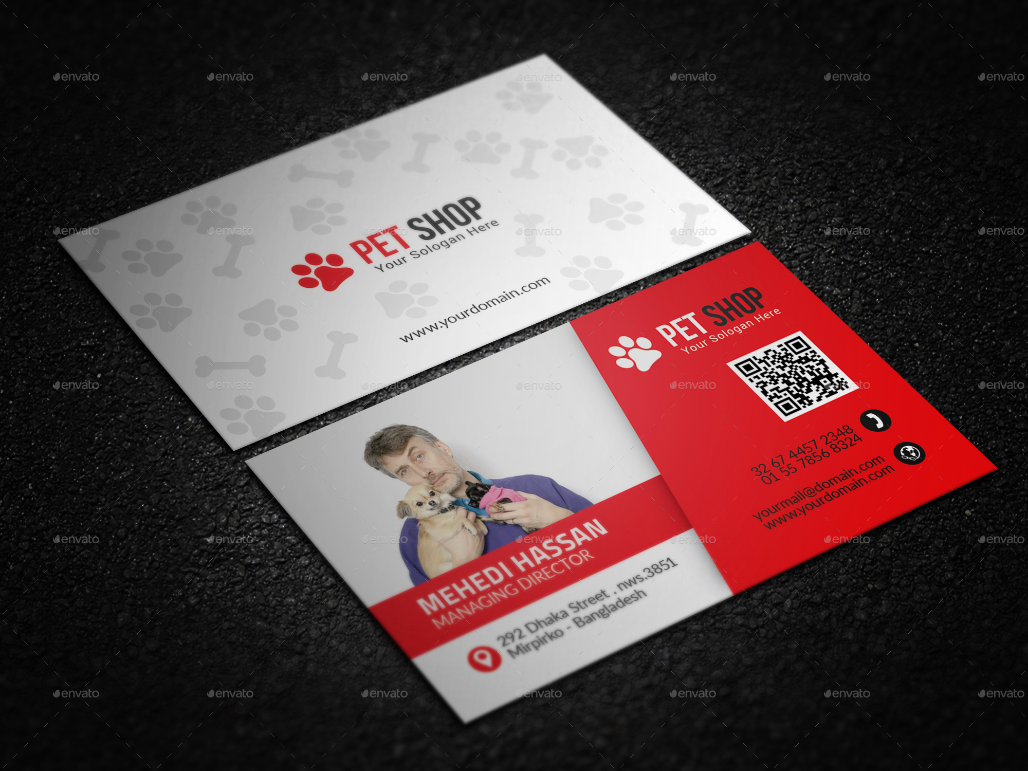 Pet shop business card by mehedihassan graphicriver pet shop business card colourmoves