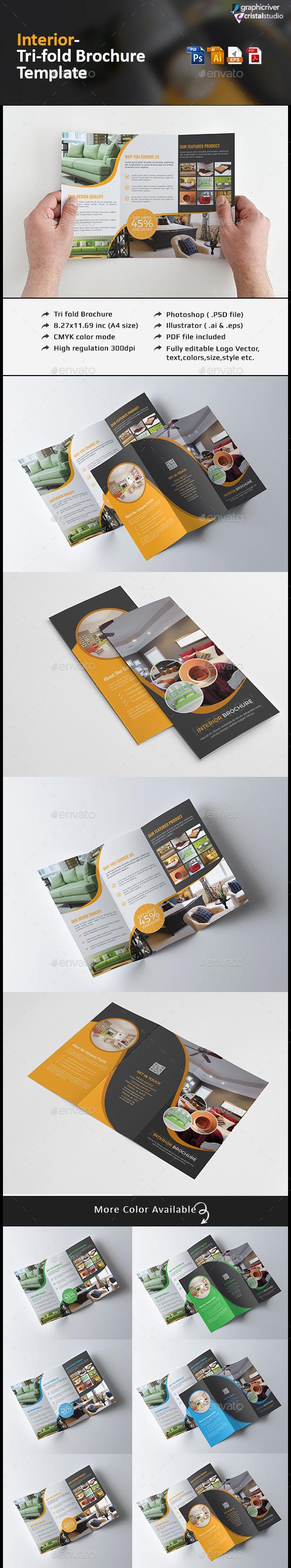Interior Tri fold Brochure - Corporate Brochures