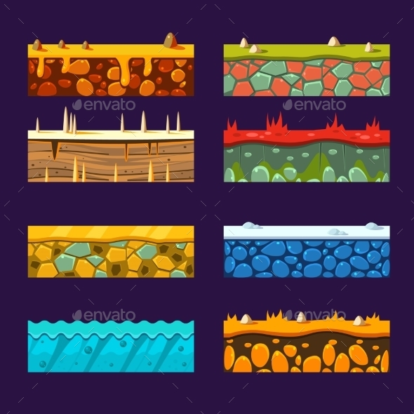Textures for Platformers - Miscellaneous Vectors