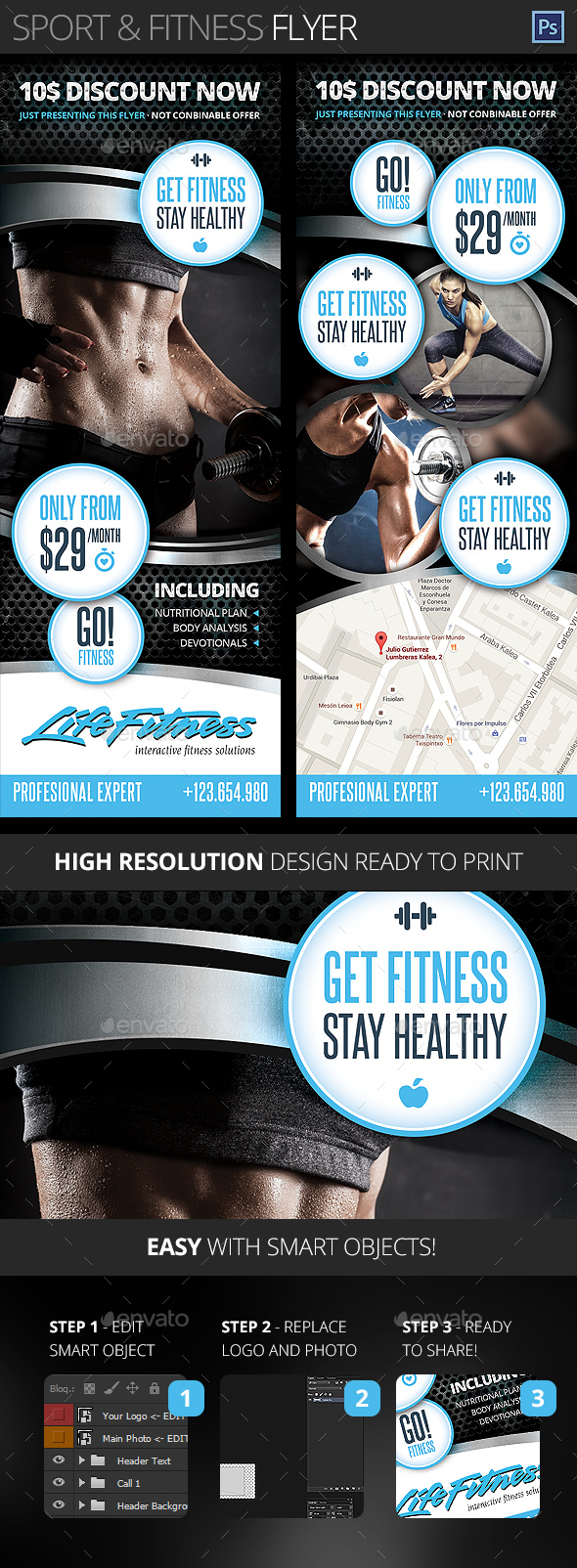 Gym, Fitness, Health and Sport Center Flyer - Sports Events