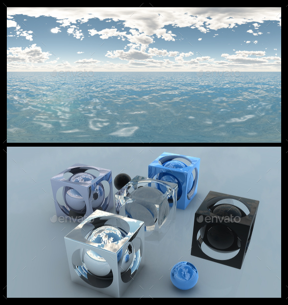 Ocean Blue Clouds 6 - HDRI - 3DOcean Item for Sale