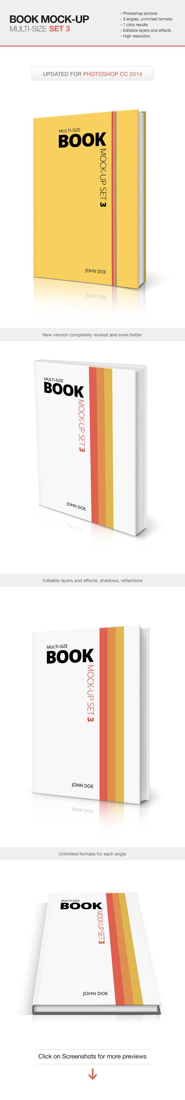 Multi-size Book Mockup - Set 3 - Utilities Actions