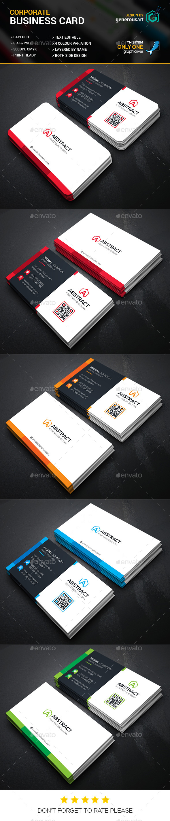 Abstract Corporate Business Card - Corporate Business Cards
