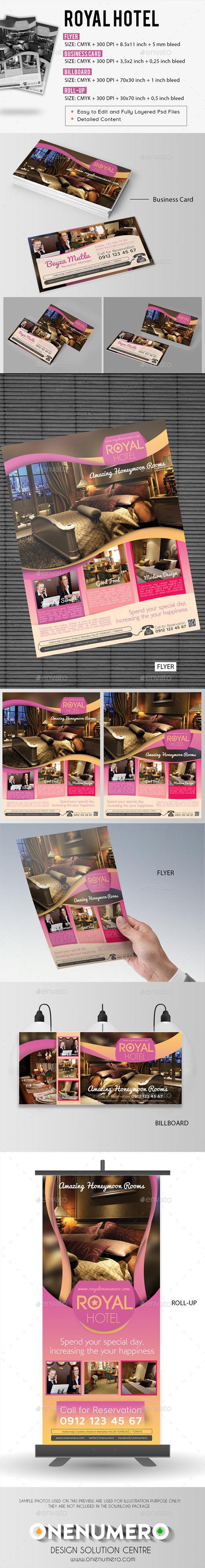 Royal Hotel Set - Signage Print Templates