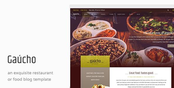 Gaucho – Restaurant Joomla Template