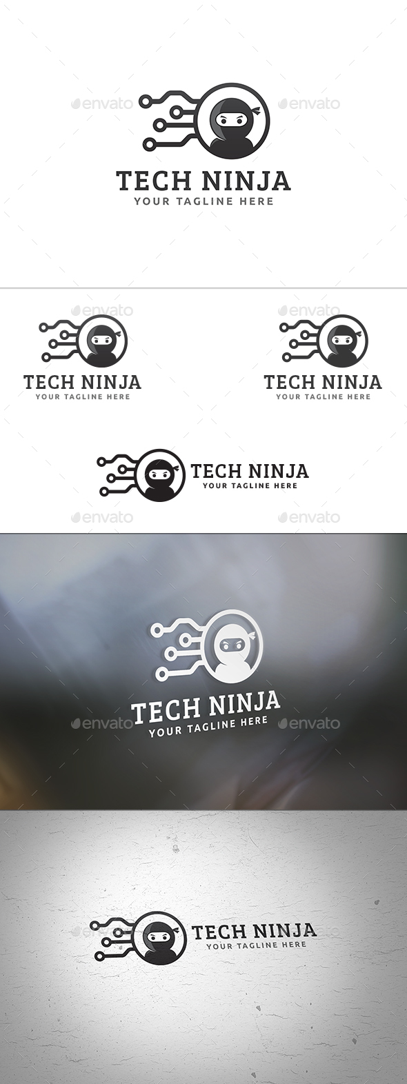 Tech Ninja Logo - Humans Logo Templates
