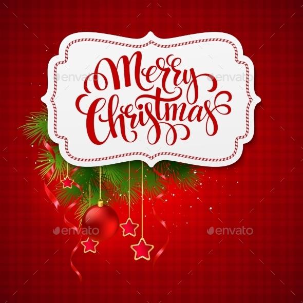 Merry Christmas Card Label - Christmas Seasons/Holidays