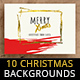 Golden Foil Christmas Backgrounds - GraphicRiver Item for Sale