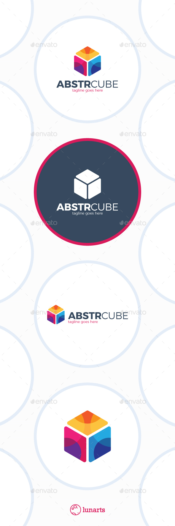 Abstract Cube Logo - Color Hex - Abstract Logo Templates