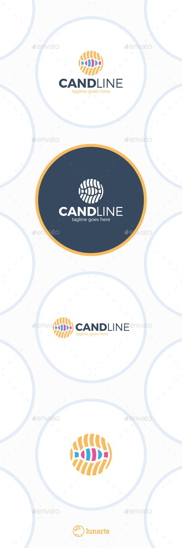 Candy Line Logo - Symbols Logo Templates