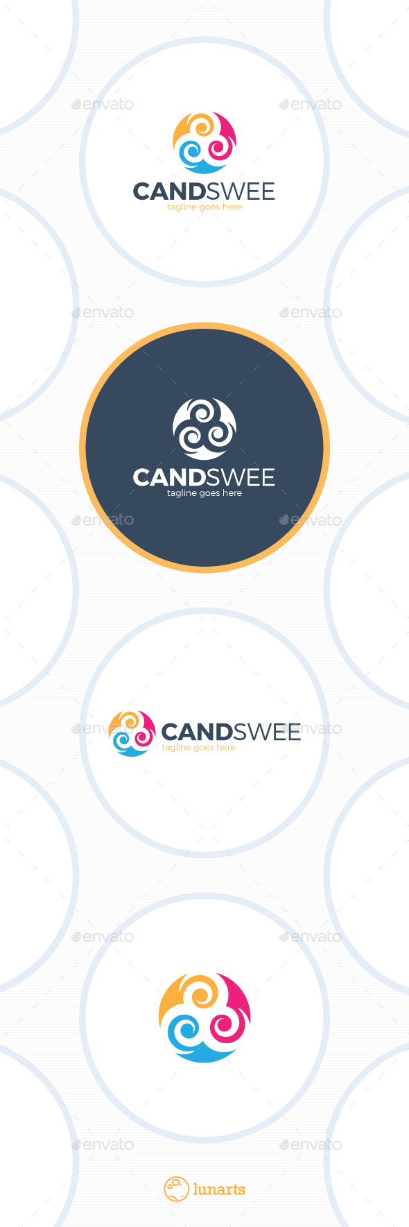 Sweet Candy Logo - Abstract Logo Templates