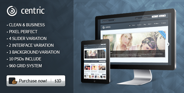 Free Download Centric Premium PSD Template Nulled Latest Version
