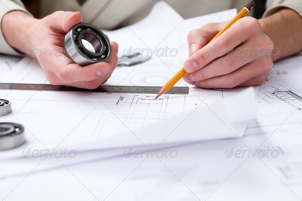 construction project papers - Stock Photo - Images
