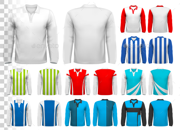 Collection of Various Soccer Jerseys  - Man-made Objects Objects