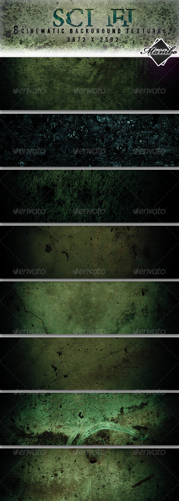 Sci Fi - Cinematic background textures - Industrial / Grunge Textures