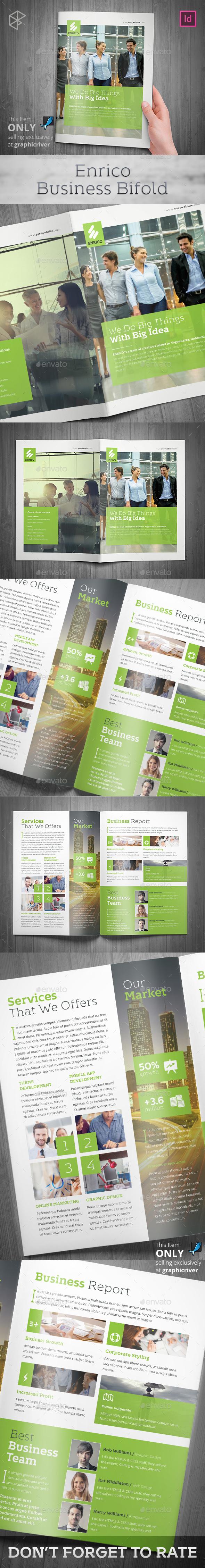 Enrico Business Bifold - Corporate Brochures