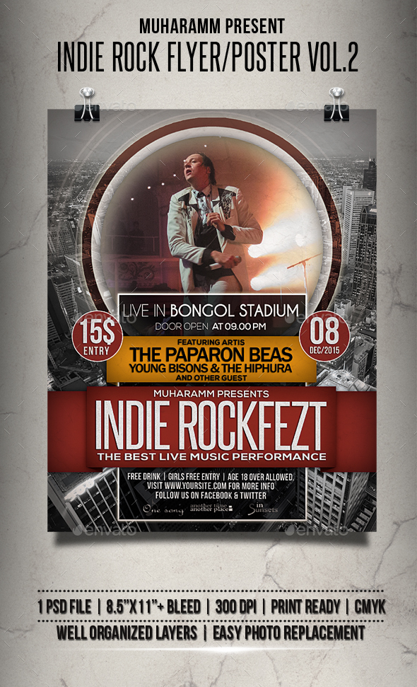 Indie Rock Flyer / Poster Vol.2 - Events Flyers