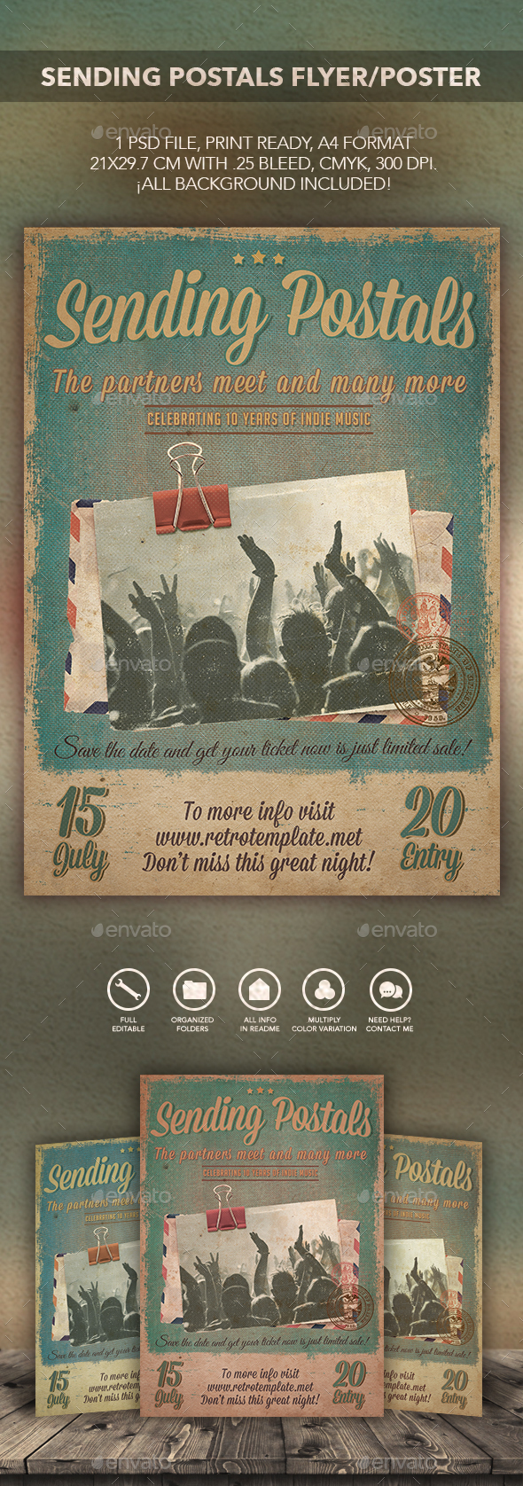 Sending Postals Flyer Poster - Events Flyers