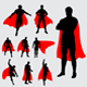Superhero and Fantasy Silhouettes - GraphicRiver Item for Sale