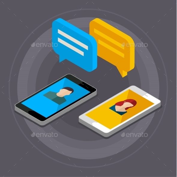 Concept Of a Mobile Chat. - Web Technology