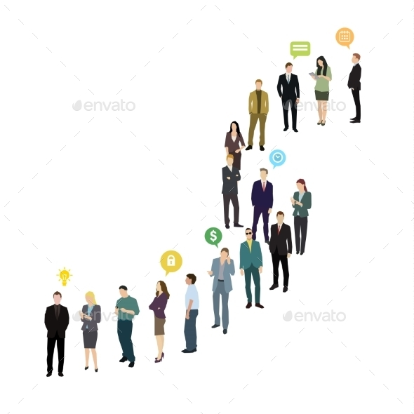 Group Of Business And Office People Standing - Concepts Business