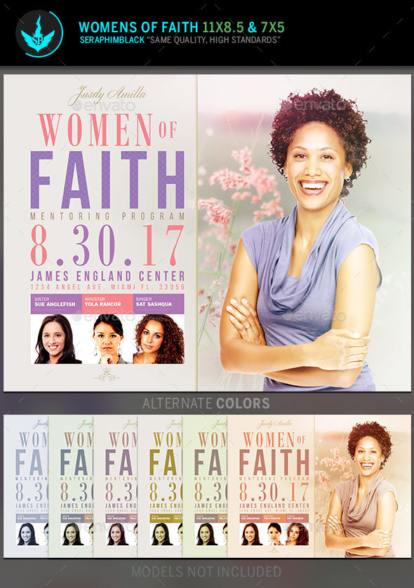 Women Of Faith Conference Flyer Template By Seraphimblack