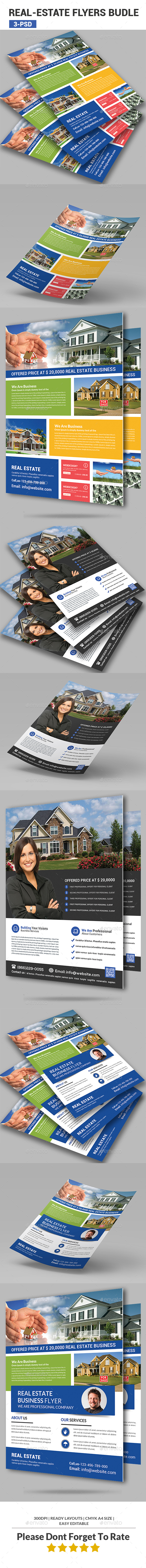 Real Estate Flyers Bundle - Corporate Flyers