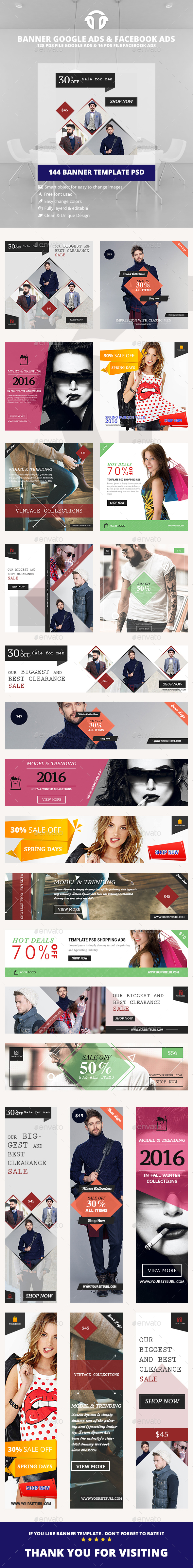 Bundle Fashion Banner Ads - Banners & Ads Web Elements