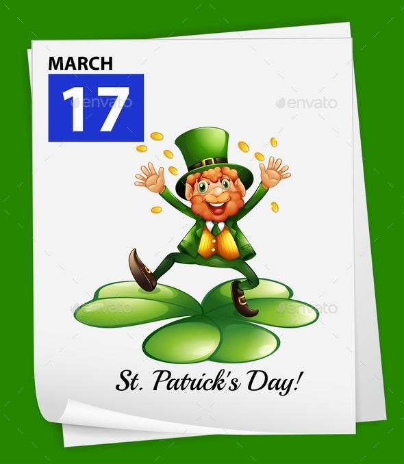 A Poster Showing St. Patrick's Day - Seasons/Holidays Conceptual