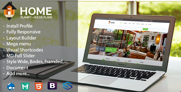 Home Planify-House Plans&Construction Drupal Theme