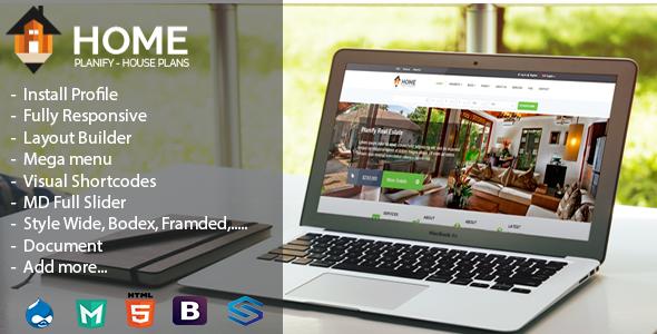 Home Planify-House Plans&Construction Drupal Theme