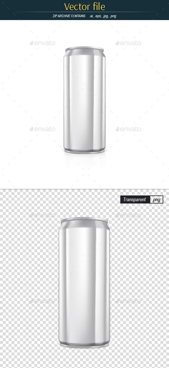 Drink Can Template Editable Vector - Man-made Objects Objects