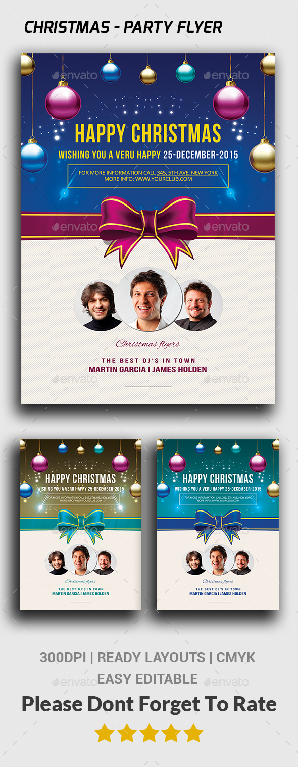 Christmas - Flyer Template  - Events Flyers