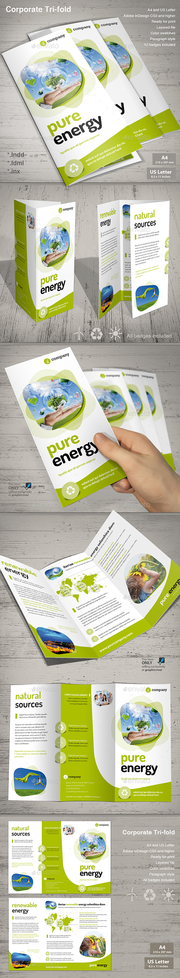 Tri-fold Pure Energy - Informational Brochures