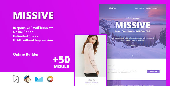 Missive - Responsive Email Template+Online Editor - Email Templates Marketing