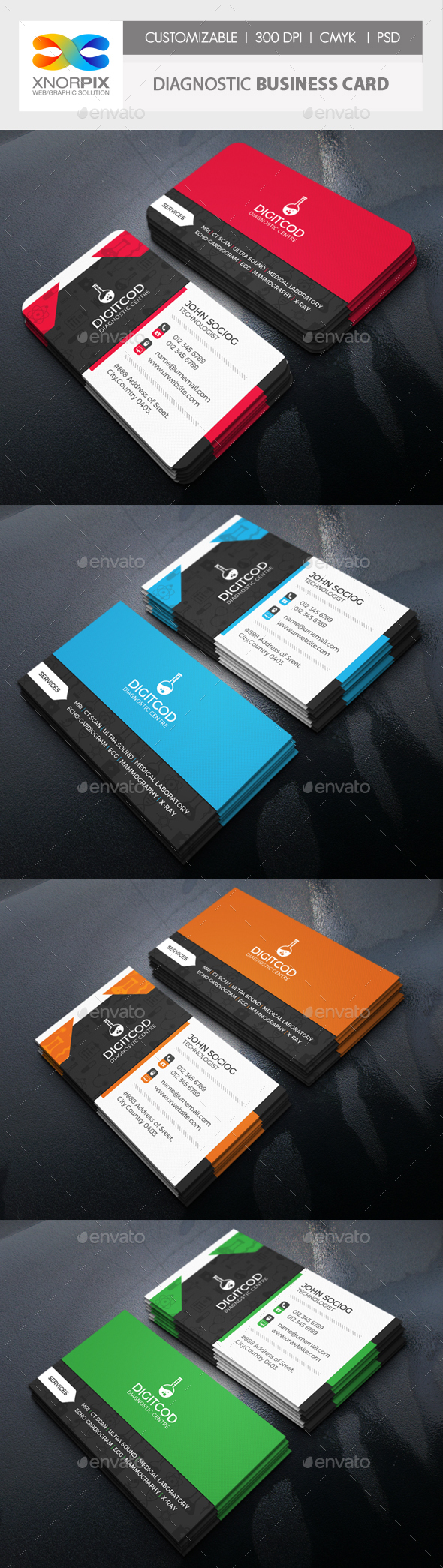 Diagnostic Business Card - Corporate Business Cards