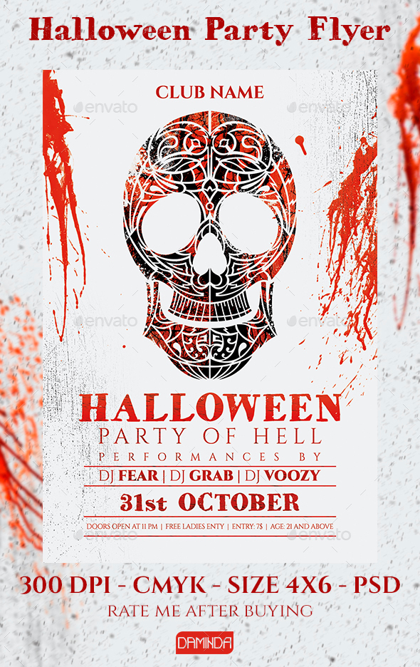 Skull Halloween - Clubs & Parties Events