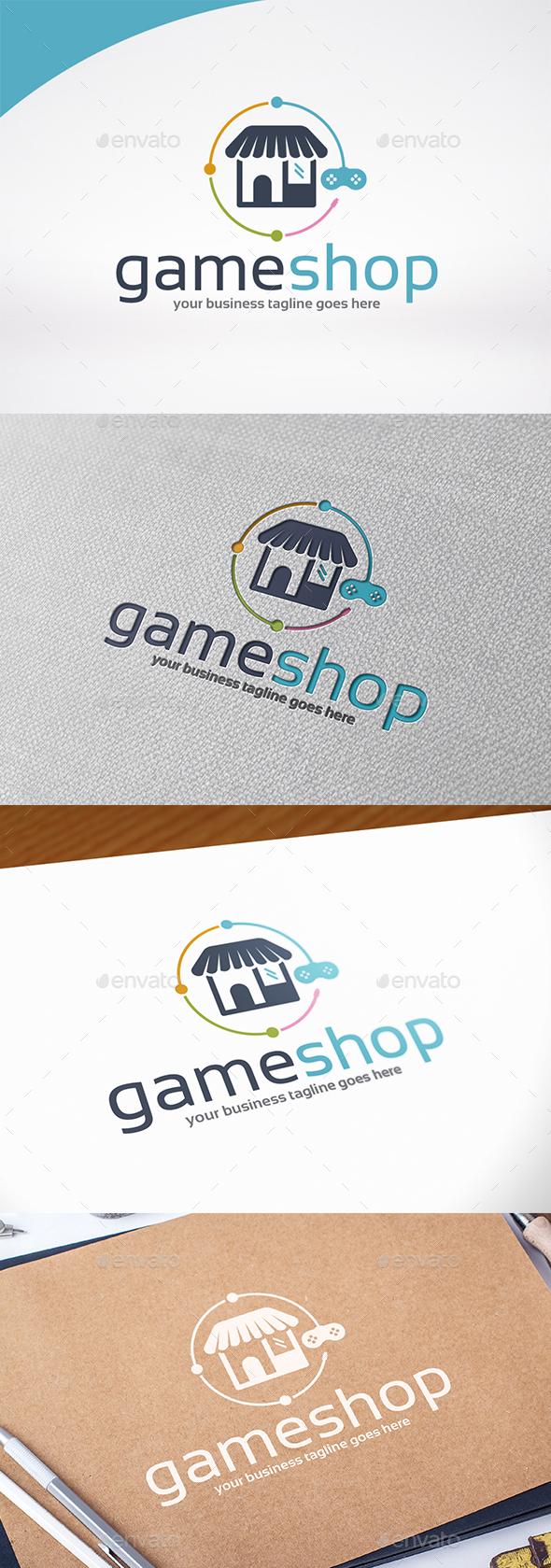 Game Shop Logo Template - Symbols Logo Templates