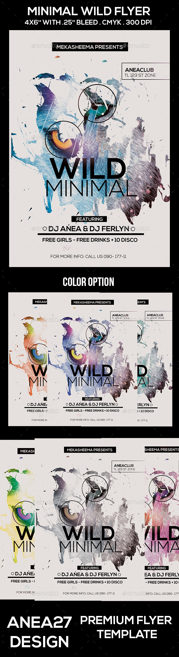 Wild Minimal  Flyer - Clubs & Parties Events