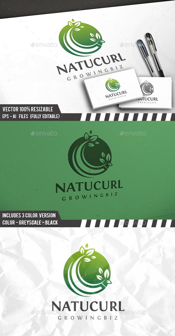 Natural Growing Logo - Nature Logo Templates