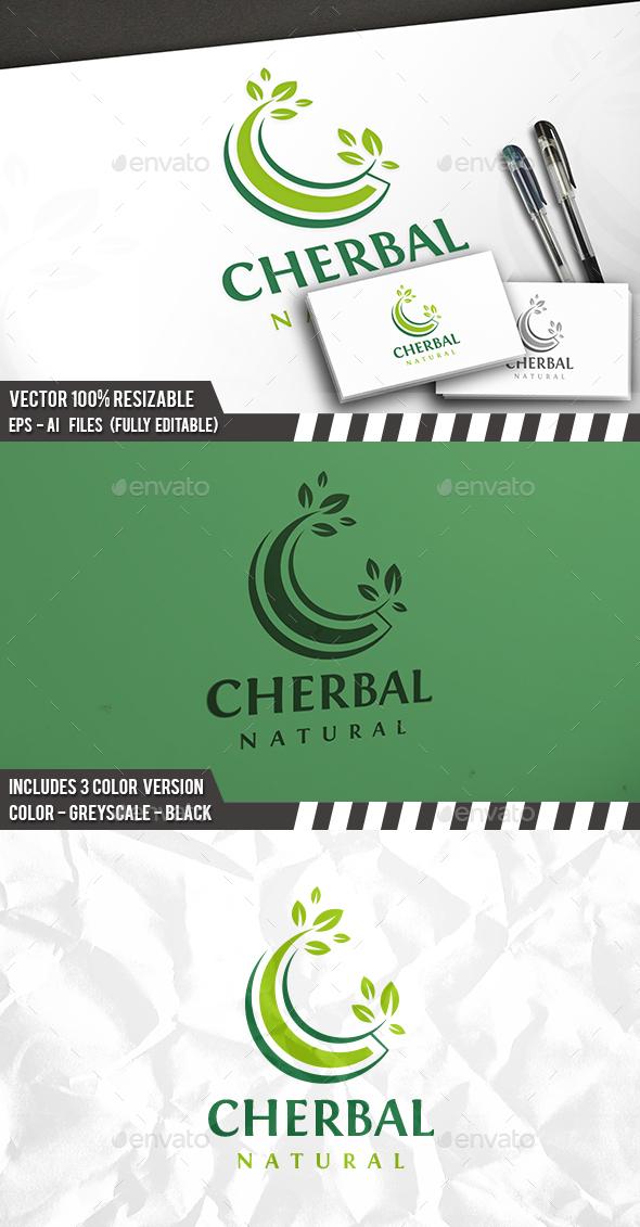 C Letter Nature Logo - Letters Logo Templates