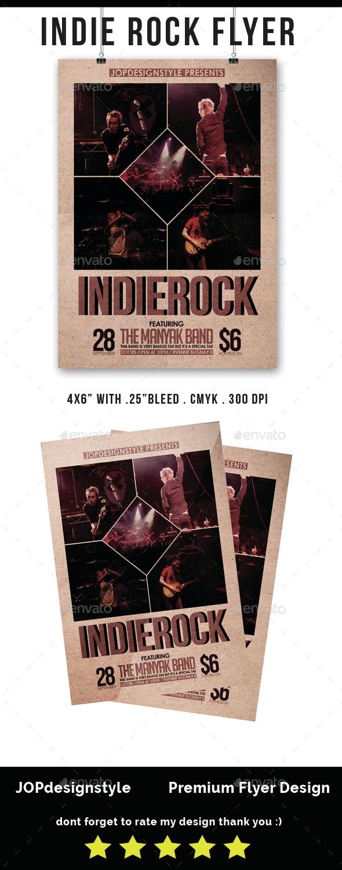 Indie Rock Vol.1 Flyer - Events Flyers