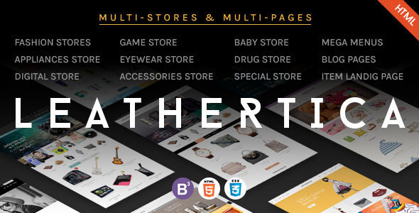 Leather – CMS & eCommerce Responsive HTML Template