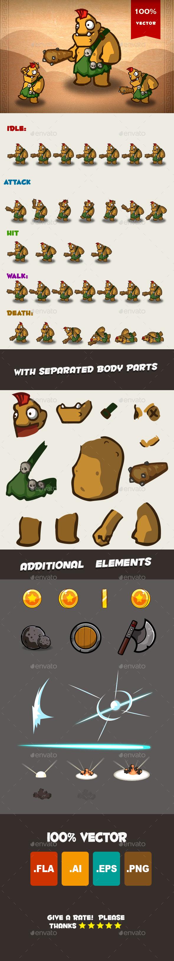 Ogre Spritesheet 02 - Sprites Game Assets
