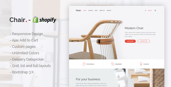 Chair – Responsive Shopify Theme