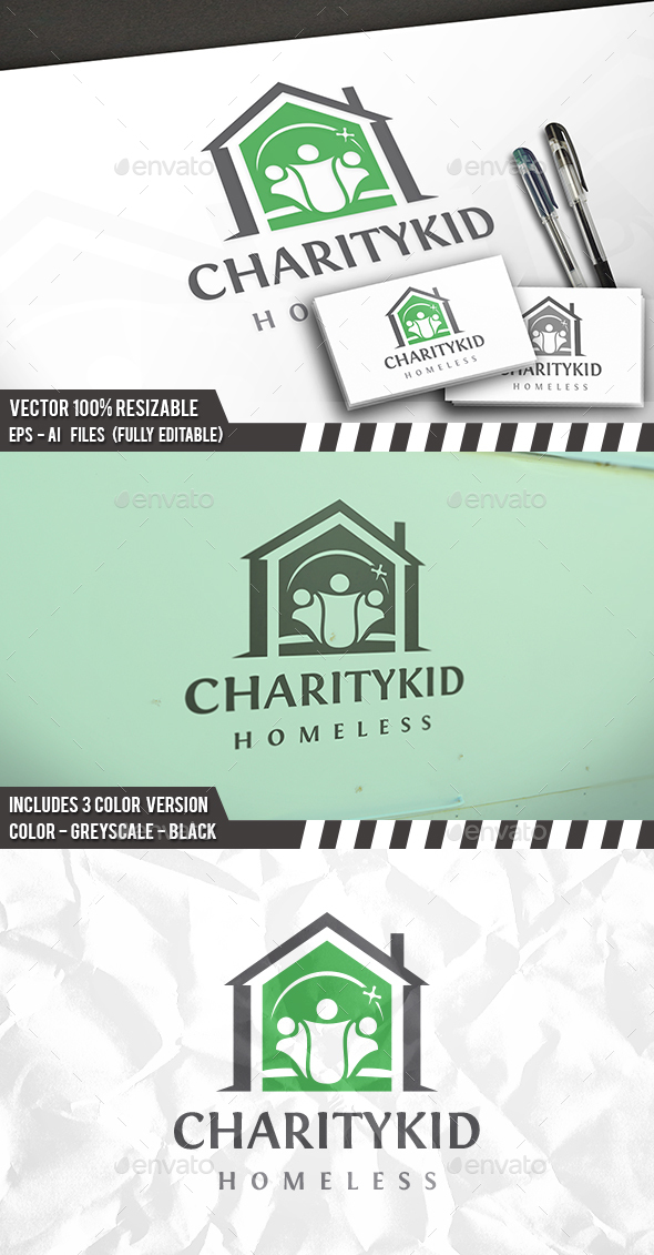 Charity House Logo - Buildings Logo Templates
